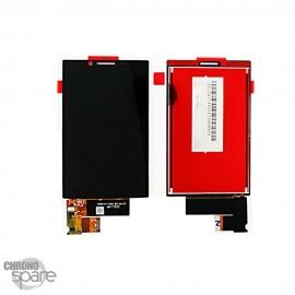 Ecran LCD + vitre tactile noire Blackberry Key 2