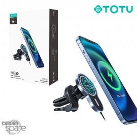 Chargeur voiture magnetique induction 15 W bleu TOTU (CACW-051)