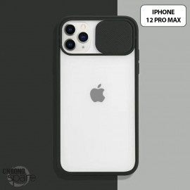 Coque Transparente iphone 12 pro max - Noir