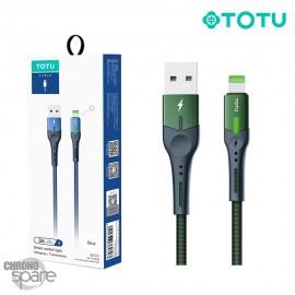 Câble USB vers Lightning 3A 1,20M Vert TOTU (BL-013)