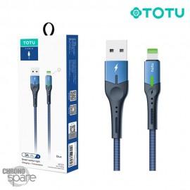Câble USB vers Lightning 3A 1,20M bleu TOTU (BL-013)