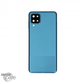 Vitre arrière + lentille caméra Samsung Galaxy A12 Bleue