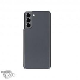 Vitre arrière + lentille caméra noire Samsung Galaxy S21