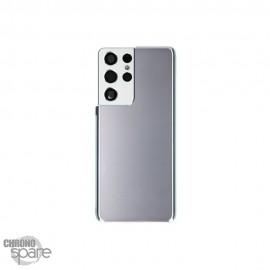 Vitre arrière + lentille caméra Samsung Galaxy S21 ultra Argent