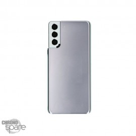 Vitre arrière + lentille caméra Samsung Galaxy S21 plus Argent