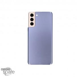 Vitre arrière + lentille caméra Samsung Galaxy S21 plus violet