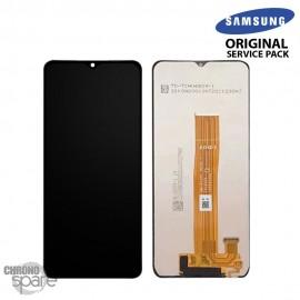 Ecran LCD + Vitre Tactile noir Samsung Galaxy A12 A125F (officiel)