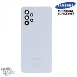 Vitre arrière + vitre caméra Blanche Samsung Galaxy A52 5G (Officiel)
