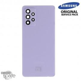 Vitre arrière + vitre caméra Violette Samsung Galaxy A72 (Officiel)