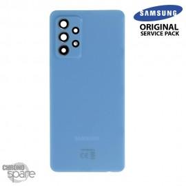 Vitre arrière + vitre caméra Bleue Samsung Galaxy A72 (Officiel)