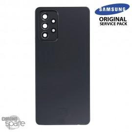 Vitre arrière + vitre caméra Noir Samsung Galaxy A72 (Officiel)