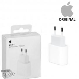 Chargeur secteur Apple original usb 20W Type C - Blanc Bulk