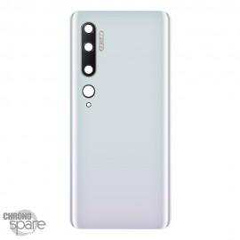 Vitre arrière + lentille caméra Xiaomi Mi Note 10 Blanche