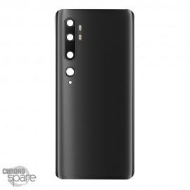 Vitre arrière + lentille caméra Xiaomi Mi Note 10 Noire