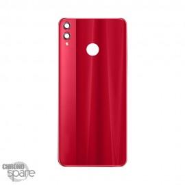 Vitre arrière + lentille caméra Huawei Honor 8X Rouge
