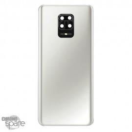 Vitre arrière +lentille caméra Xiaomi Redmi Note 9 Pro blanche