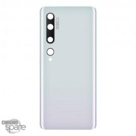 Vitre arrière + lentille caméra Xiaomi Mi Note 10 Pro blanche
