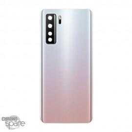 Vitre arrière + lentille caméra Huawei P40 Lite 5G Blanche