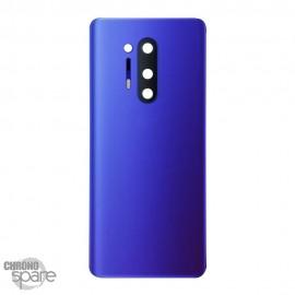 Vitre arrière + lentille caméra OnePlus 8 Pro Bleue foncée