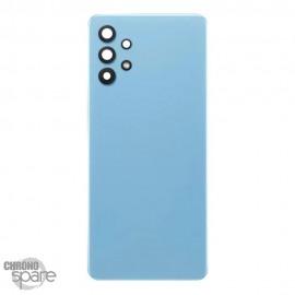 Vitre arrière + lentille caméra Samsung Galaxy A32 Bleue