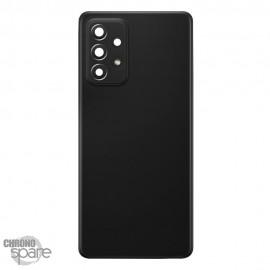 Vitre arrière + lentille caméra Samsung Galaxy A52/5G Noire