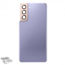 Vitre arrière + lentille caméra violet Samsung Galaxy S21