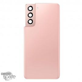 Vitre arrière + lentille caméra rose Samsung Galaxy S21