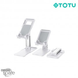 Support pour Smartphone/Tablette pliable Blanc TOTU (DCTS-14)
