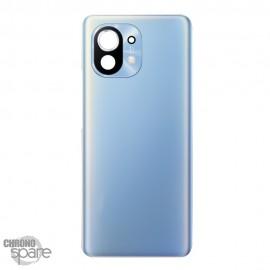 Vitre arrière + lentille caméra Xiaomi Mi 11 Bleue