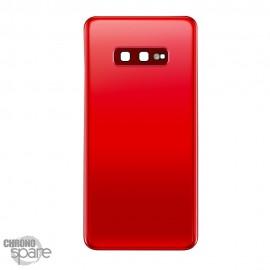 Vitre arrière + lentille caméra Samsung Galaxy S10e - Rouge