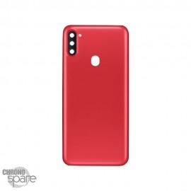 Vitre arrière + lentille caméra Samsung Galaxy A11 Rouge