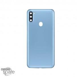 Vitre arrière + lentille caméra Samsung Galaxy A11 Bleue