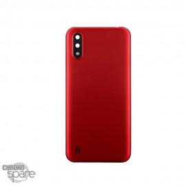 Vitre arrière + lentille caméra Samsung Galaxy A01 Rouge