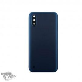 Vitre arrière + lentille caméra Samsung Galaxy A01 Bleu