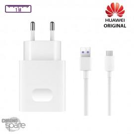 Chargeur secteur + câble 1M Superchargeur 22.5W TYPE C Huawei original 4.5V 5A - Blanc