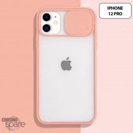 Coque Transparente iphone 12 pro-Rose