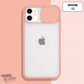Coque Transparente iPhone 12 - Rose