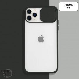 Coque Transparente iPhone 12 - Noir