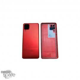 Vitre arrière + lentille caméra Samsung Galaxy A12 rouge