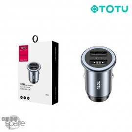 Chargeur allume-cigare fast charge 27 W 2 USB gris TOTU (DCCD-020)