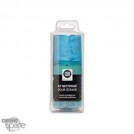 KIT de Nettoyage Ecrans Spray 200ml + Chiffonette en Microfiblres 20x30