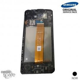 Ecran LCD + Vitre Tactile + châssis noir Samsung Galaxy A12 A125F (officiel) Sans Batterie