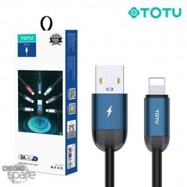 Câble USB vers lighting bleu 1.2 M TOTU (BL-010)