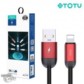 Câble USB vers lighting rouge 1.2 M TOTU (BL-010)