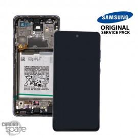 Ecran LCD + Vitre Tactile + châssis Violet Samsung Galaxy A72 4G A725F (officiel)