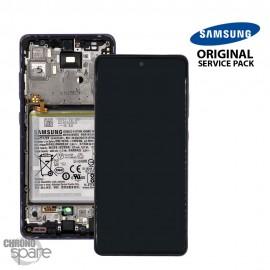 Ecran LCD + Vitre Tactile + châssis Violet Samsung Galaxy A52 5G A525F (officiel)