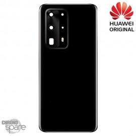 Vitre arrière + lentille caméra Huawei P40 Pro Plus Noire (Officiel)