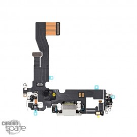 Nappe connecteur de charge iPhone 12 / 12 Pro Blanc
