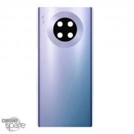 Vitre arrière + lentille caméra argent Huawei mate 30 pro