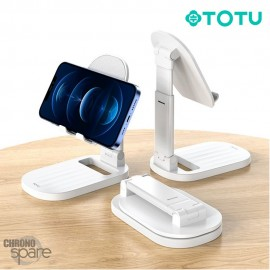 Support pour Smartphone/Tablette pliable Blanc TOTU (DCTS-13)